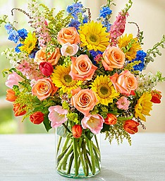 Summer Sensation Abundant Summer Blooms Arrangement in Croton On Hudson, NY | Cooke's Little Shoppe Of Flowers