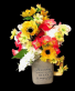 Summer Silk Floral  Country Mug