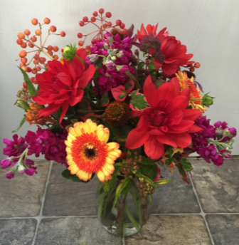 Summer Sizzle Vase Arrangement
