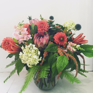 Summer Sophistication Vase Arrangement in Astoria, OR | BLOOMIN CRAZY FLORAL