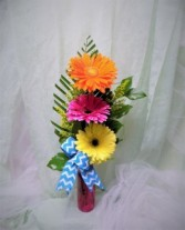 Summer Splash Bouquet Vase arrangment