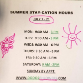 Summer stay-cation July 7 - 21