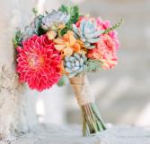 Summer Succulent Bouquet  Bridal Bouquet