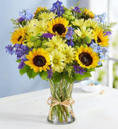 SUMMER SUNFLOWER ARRANGEMENT VASE