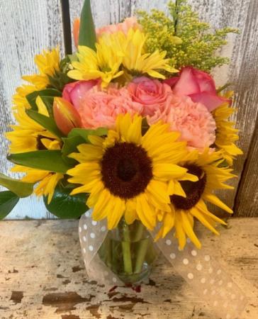 Summer  Sunflower sunflowers, tuips,roses