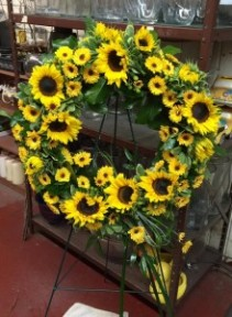 Summer Sunflower Sympathy Wreath