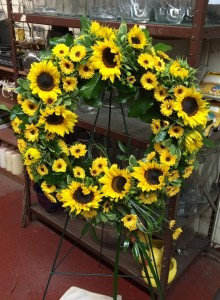 Summer Sunflower Sympathy Wreath
