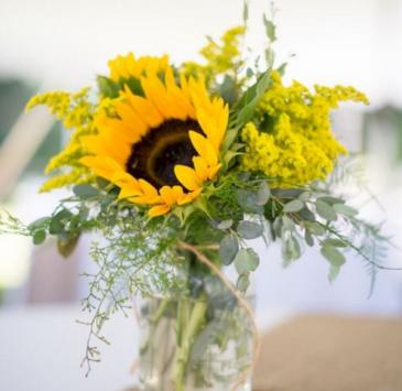 Summer sunflower vase