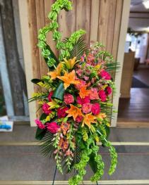 Summer Breeze Funeral Basket