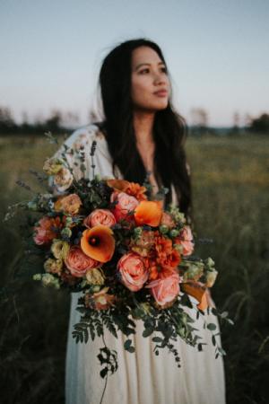 Summer Sunset Reflections Bridal Bouquet