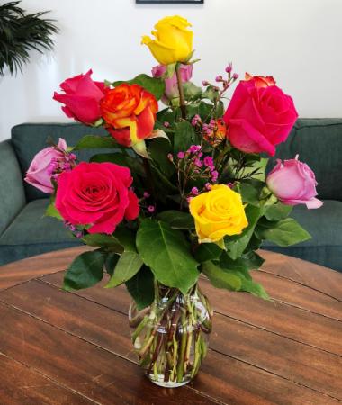 Summer Sunset Rose Arrangement