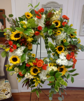 Summer Sunshine wreath Funeral Wreath