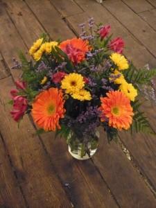 Gerbera Thoughts of You Mini Sunflowers, Alstromeria and Gerbera