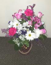 Summer Time Bright Vase  Fresh Floral Keepsake