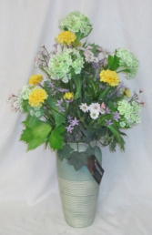 Summer Vase - Silk Arrangement Permanent Arrangement by Inspirations Floral Studio