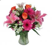 Summers Bright blooms Vase
