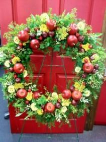 summertime apple wreath