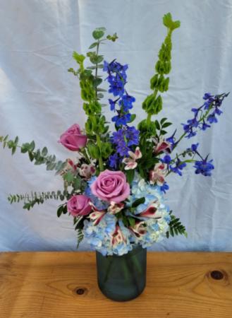 Summertime Blues Vase Arrangement