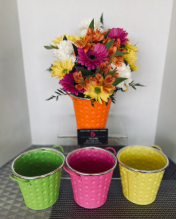 Summertime Bucket - SOLD OUT Arrangement **Colors May Vary**