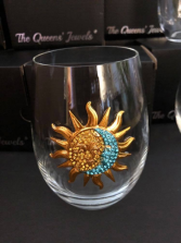 Sun and Moon Stemless Glass