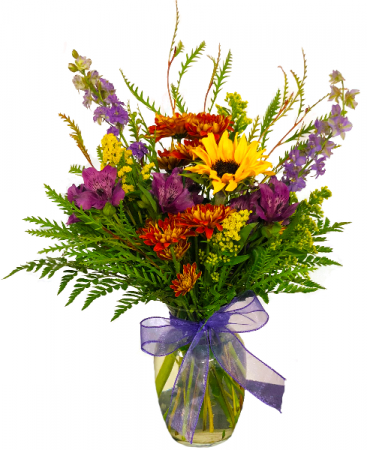 Sun Fall Vased Arrangement