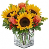 Sun Kissed Floral Arrangment