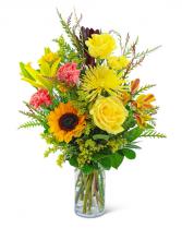 Sun-Kissed Solace Flower Arrangement