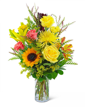 Sun-Kissed Solace Flower Arrangement in Nevada, IA | Flower Bed