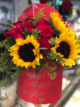 Sun Rose  Hat Box