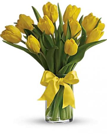 Sun Shine Tulip Vase