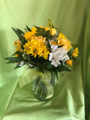 Sun-Shiny Day  Vase Arrangement in Nampa, ID | FLOWERS BY MY MICHELLE