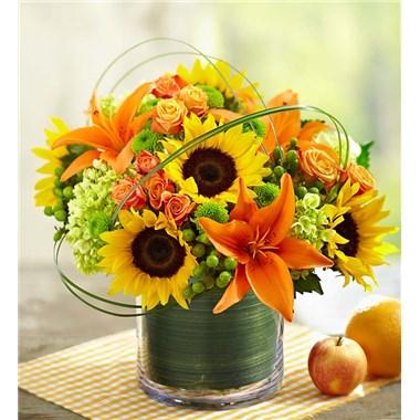 Sunburst Bouquet Vase Arrangement
