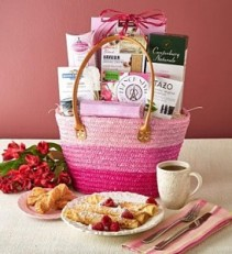 Sunday Brunch Gift Tote Basket gift basket
