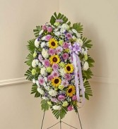Sunflower and Rose Standing Spray Funeral Spray