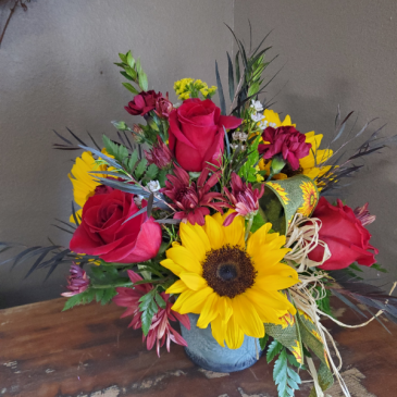 Sunflower and Rose Tin