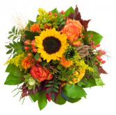 Sunflower and Roses Bouquet