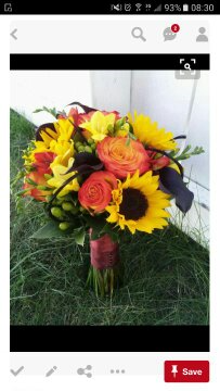 Sunflower And Roses Wedding Bouquet In Garland Nc Carolyns Flower