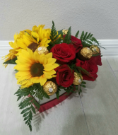 Sunflower and Sweet Roses
