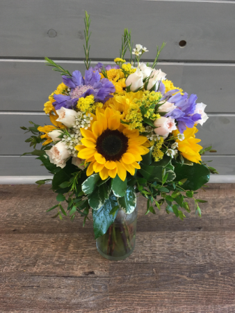 Sunflower Anemone  Wedding Bouquet