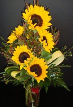 SUNFLOWER SUPRISE Vase Arrangement