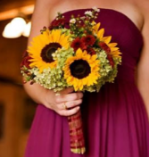 Sunflower beauty  hand tied