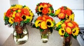 Sunflower Beauty Bequets Wedding Flowers