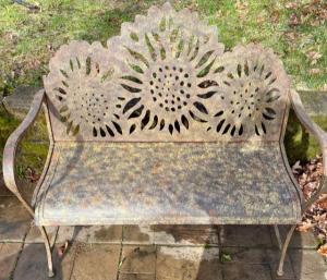 Sunflower Bench   in Fowlerville, MI | ALETA'S FLOWER SHOP