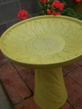 Sunflower Bird bath Gift ware