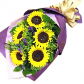 SUNFLOWER BOUQUET WRAPPED BOUQUET