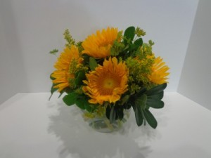 Sunflower Bowl Signature Design  in Park City, UT | GALLERIA FLORAL & DESIGN