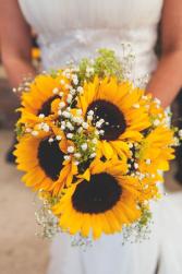Sunflower bridal bouquet clutch bouquet