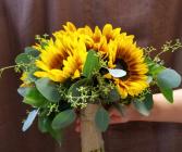 sunflower bridal bouquet Wedding
