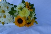 sunflower bridesmaid bouquet wedding