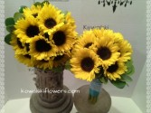 Sunflower Bridesmaids Bouquets